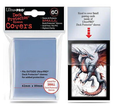 Ultra Pro - Small Card Sleeves 60ct - Clear Over Sleeve Covers - 401 Games