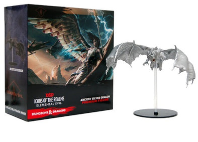Dungeons and Dragons Miniatures - Icons of the Realm: Ancient Silver Dragon Premium Figure - 401 Games