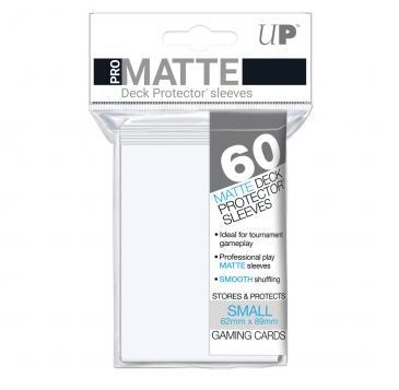 Ultra Pro - Small Card Sleeves 60ct - Pro Matte  White - 401 Games