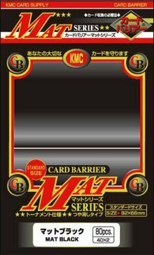 KMC Standard Mat Black 80 Ct Sleeves