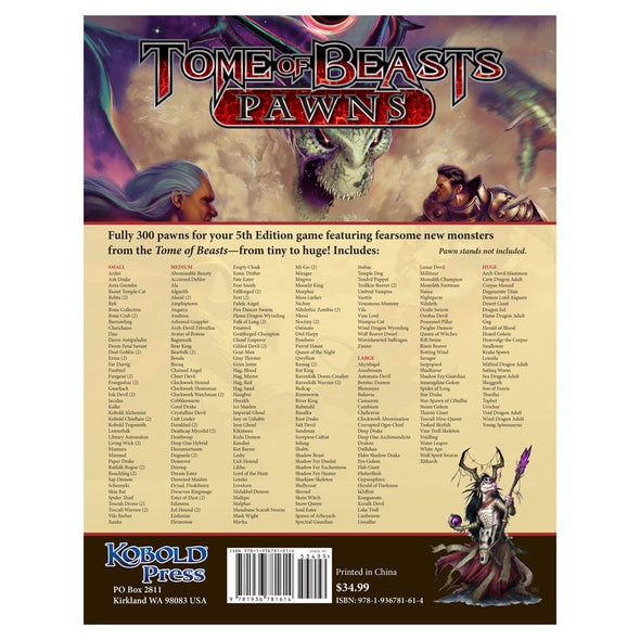 Buy Tome of Beasts - Pawns and more Great RPG Products at 401 Games