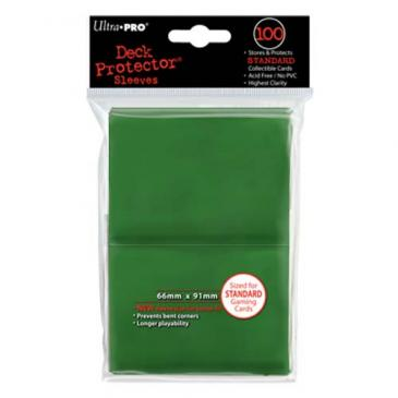 Ultra Pro - Standard Card Sleeves 100ct - Green - 401 Games