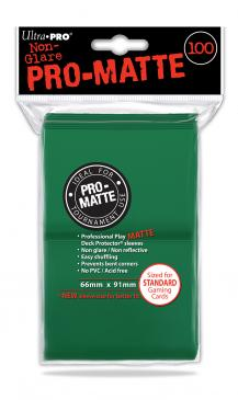 Ultra Pro - Standard Card Sleeves 100ct - Pro-Matte - Green - 401 Games