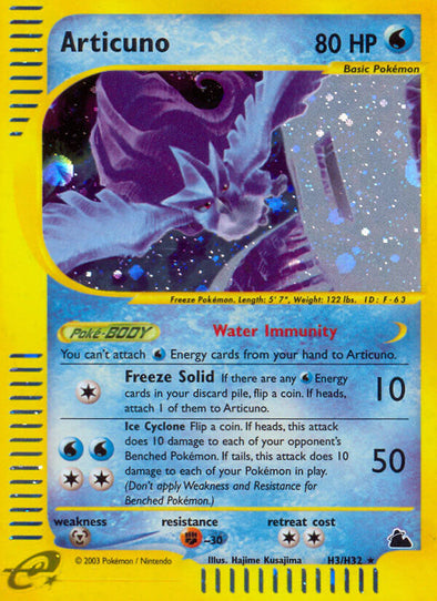 Articuno - H3/H32 (SKY) available at 401 Games Canada