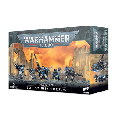 Warhammer 40,000 - Space Marines - Scouts with Sniper Rifles available at 401 Games Canada