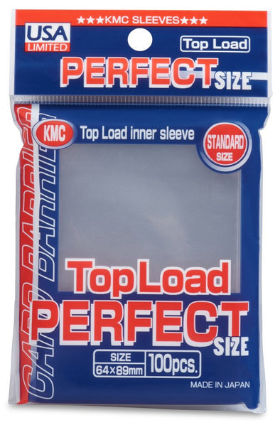 Buy KMC - Perfect Fit - Standard Size - Clear 100ct (USA Limited) and more Great Sleeves & Supplies Products at 401 Games