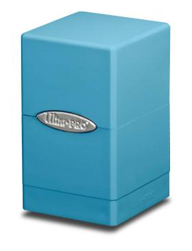 Ultra Pro - Deck Box 100+ Satin Tower - Light Blue available at 401 Games Canada