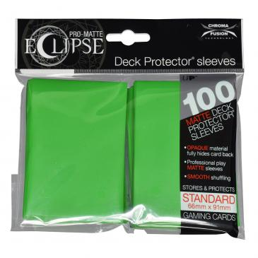 Buy Ultra Pro - Pro-Matte Eclipse - Standard Size - Lime Green 100ct and more Great Sleeves & Supplies Products at 401 Games