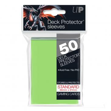 Ultra Pro - Standard Card Sleeves 50ct - Lime Green - 401 Games