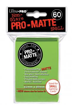 Ultra Pro - Small Card Sleeves 60ct - Pro Matte - Lime Green - 401 Games