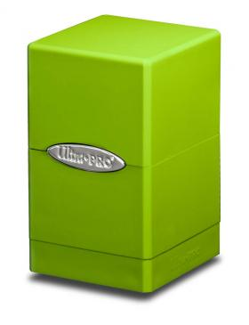Ultra Pro - Deck Box 100+ Satin Tower - Lime Green - 401 Games