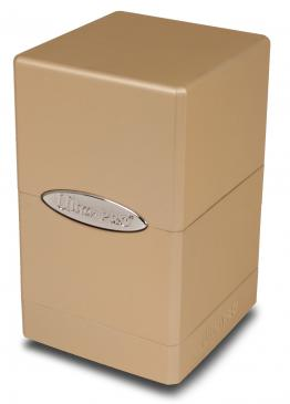 Ultra Pro - Deck Box 100+ Satin Tower - Metallic Caramel available at 401 Games Canada