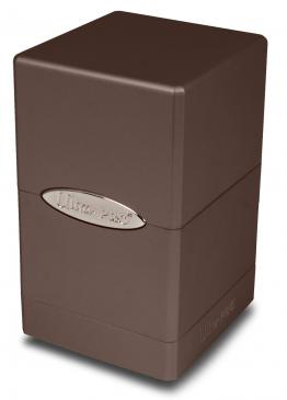 Ultra Pro - Deck Box 100+ Satin Tower - Metallic Dark Chocolate available at 401 Games Canada