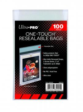 Buy Ultra Pro - One Touch Resealable Bags - 100ct and more Great Sleeves & Supplies Products at 401 Games