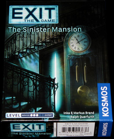 Exit The Game - The Sinister Mansion available at 401 Games Canada