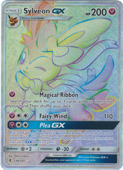 Buy Sylveon-GX - 158/145 - Hyper Rare and more Great Pokemon Products at 401 Games
