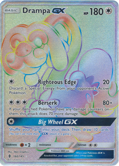 Buy Drampa-GX - 160/145 - Hyper Rare and more Great Pokemon Products at 401 Games