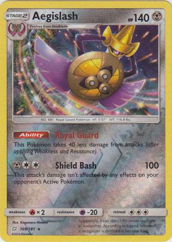 Buy Aegislash - 109/181 - Reverse Foil and more Great Pokemon Products at 401 Games