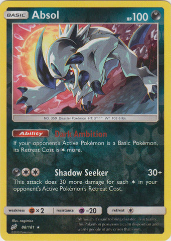 Buy Absol - 88/181 - Reverse Foil and more Great Pokemon Products at 401 Games