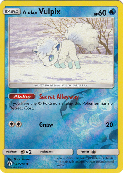 Buy Alolan Vulpix - 53/214 - Reverse Foil and more Great Pokemon Products at 401 Games