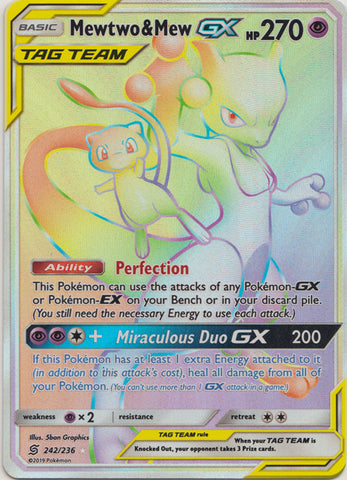 Mewtwo & Mew GX 242/236 - Secret Rare available at 401 Games Canada