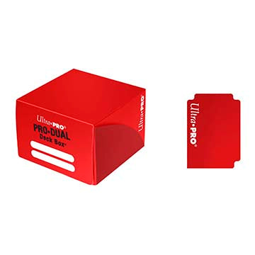 Buy Ultra Pro - Pro Dual Deck Box 180ct - Red and more Great Sleeves & Supplies Products at 401 Games