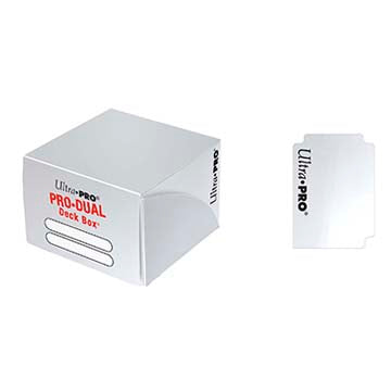 Buy Ultra Pro - Pro Dual Deck Box 180ct - White and more Great Sleeves & Supplies Products at 401 Games