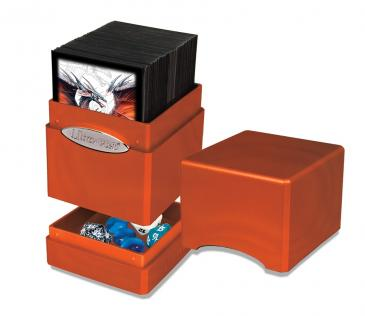 Ultra Pro - Deck Box 100+ Satin Tower - Pumpkin available at 401 Games Canada