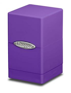 Buy Ultra Pro - Deck Box 100+ Satin Tower - Purple and more Great Sleeves & Supplies Products at 401 Games