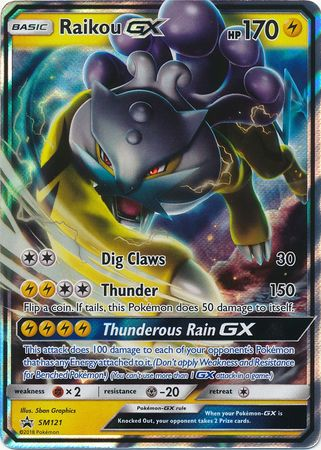 Buy Raikou-GX - SM121 and more Great Pokemon Products at 401 Games