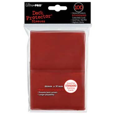 Ultra Pro - Standard Card Sleeves 100ct - Red available at 401 Games Canada