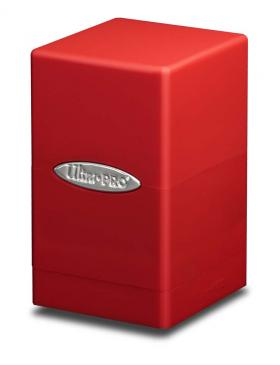 Buy Ultra Pro - Deck Box 100+ Satin Tower - Red and more Great Sleeves & Supplies Products at 401 Games