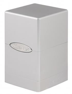 Ultra Pro - Deck Box 100+ Satin Tower - Metallic Silver - 401 Games