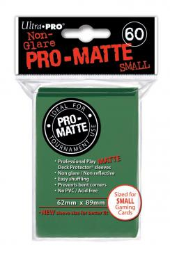 Ultra Pro - Small Card Sleeves 60ct - Pro Matte - Green - 401 Games