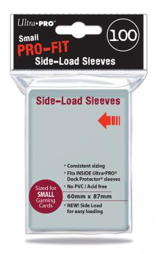 Ultra Pro - Small Card Sleeves 100ct - Pro-Fit Clear Side Loading 60mm x 87mm