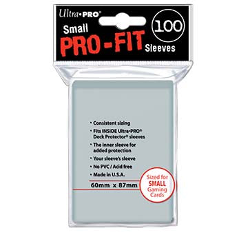 Ultra Pro - Small Card Sleeves 100ct - Pro-Fit Clear 60mm x 87mm - 401 Games