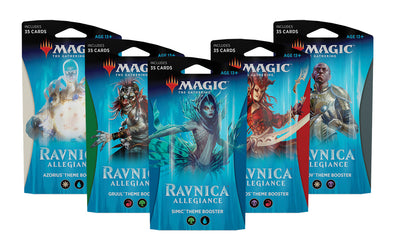 Buy MTG - Ravnica Allegiance - Theme Boosters Set of 5 and more Great Magic: The Gathering Products at 401 Games
