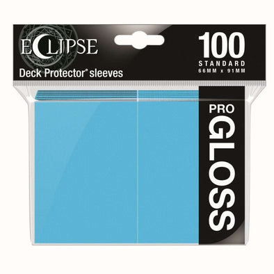Ultra Pro - Gloss Eclipse - Standard Size - Sky Blue 100ct available at 401 Games Canada