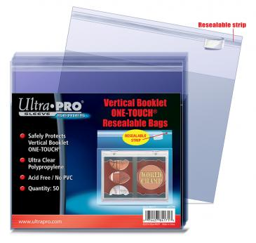 Buy Ultra Pro - One Touch 50ct - Vertical Booklet Resealable Bags and more Great Sleeves & Supplies Products at 401 Games