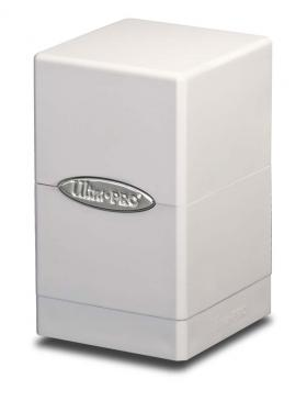 Buy Ultra Pro - Deck Box 100+ Satin Tower - White and more Great Sleeves & Supplies Products at 401 Games