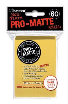 Ultra Pro - Small Card Sleeves 60ct - Pro Matte - Yellow - 401 Games