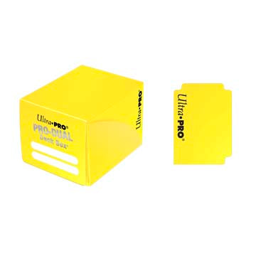 Ultra Pro - Pro Dual Deck Box 120ct - Yellow available at 401 Games Canada