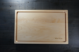 "Rounded Edge Maple Board With Juice Groove 11""x17""x1"""