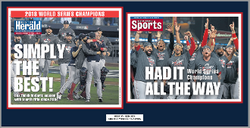 Boston Red Sox 2018 World Series Champs Double Plaque