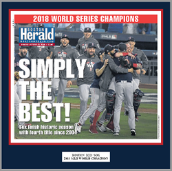 Boston Red Sox 2018 World Series Champs Plaque