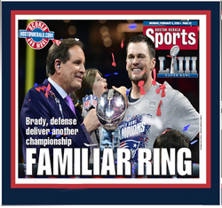 b3c73576c25 New England Patriots Super Bowl LIII - Familiar Ring Plaque