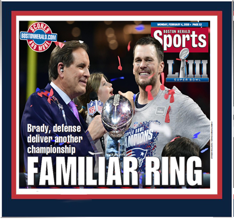 New England Patriots Super Bowl LIII - Familiar Ring Plaque