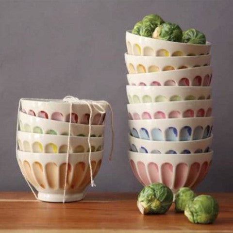 Pastel Stone Ware Bowls (Set of 6)
