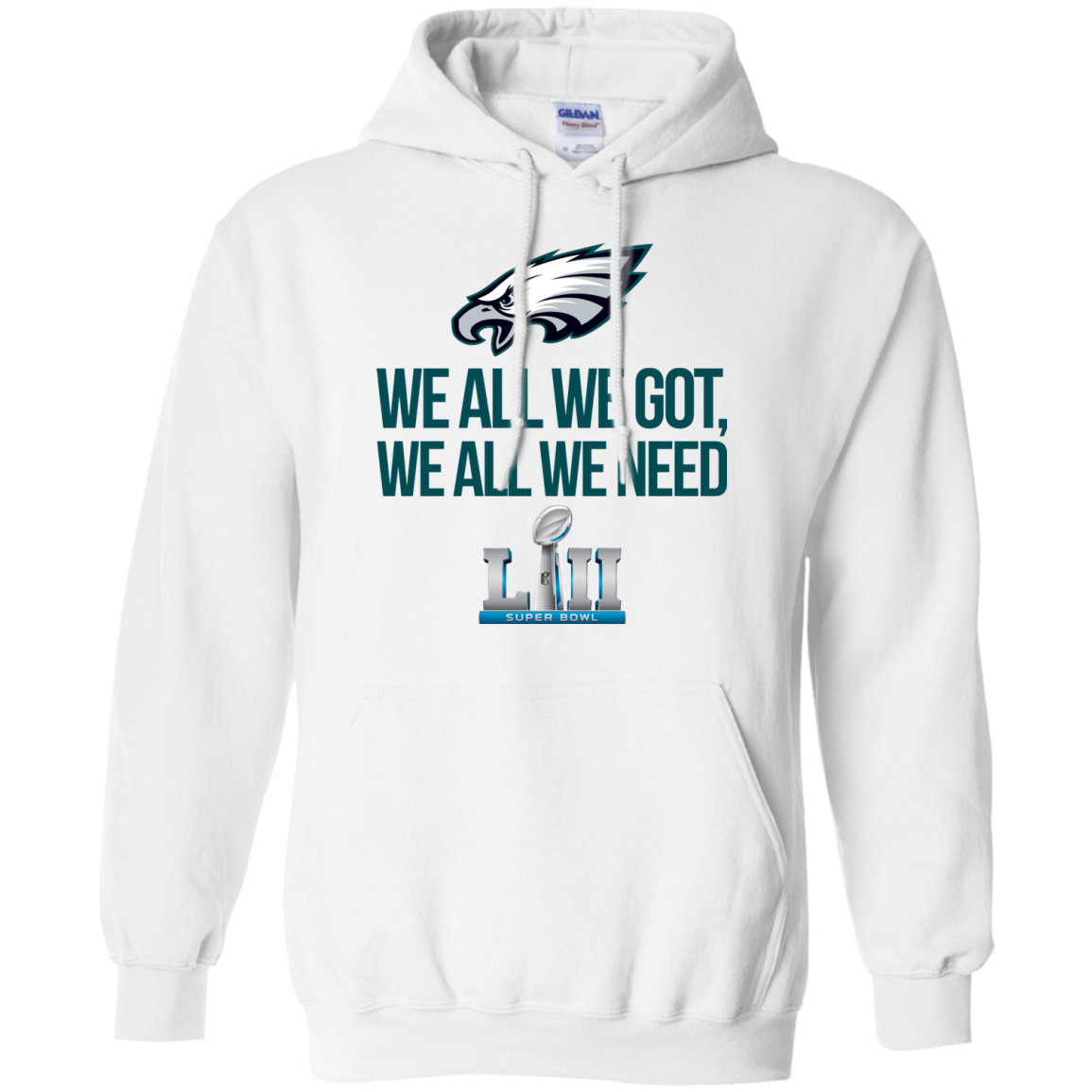innovative design 2dad0 95eda Philadelphia Eagles We all we got, we all we need champions 2018 shirt