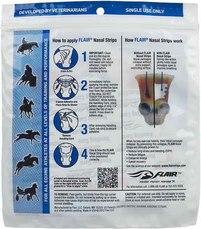 Flair Equine Nasal Strips- White